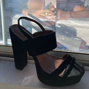 New York & Company Shoes - Cute black velvet pumps